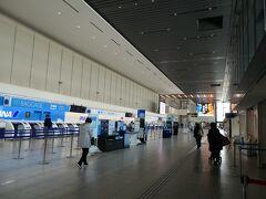 伊丹空港、あいかわらず閑散としています。