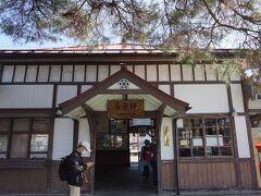 レトロでかわいい長瀞駅。