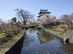 お堀と桜、アングルが決まりません・・ その後桜の散策・・桜のトンネルはまだ咲いていません・・