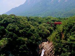 【屋久島 トローキの滝】 鹿児島  2013年8月  海へ直接流れ落ちる滝で有名ですね…  知床の【カムイワッカの滝】も直接海に…  【トローキの滝】の山側が【千尋の滝】かと…