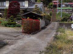 「福地八幡神社入口」12:29通過。