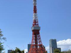 大イチョウを見た後は 芝公園を少し散策 芝公園からは東京タワーが足元まで見えますね