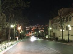 函館山を下りてきて、せっかくなので夜の元町へ 八幡坂を上から
