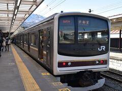 そこからは宇都宮に向けてJR日光線です。 かつて京葉線で走っていた205系通称メルヘン車両での移動。 なかなかの旅程でした。