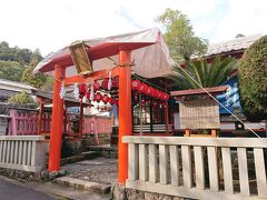 食後は大聖院に向けて出発 途中粟島神社を参拝
