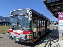▽4月27日(火) 1日目続き 木古内駅前から函館バスの松前出張所行きに乗車。