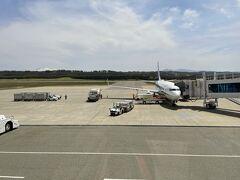 庄内空港到着。 お初の庄内空港。  こんじりしててわかりやすい。