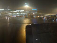 飛行機では眠ってしまい気が付くと羽田空港。東京は雨でした。  ここまでお付き合いいただきありがとうございました。