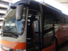 羽田空港発 11:20発 新宿西口行き高速バス。