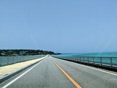 古宇利大橋渡って古宇利島へ。 ヒャッホー!