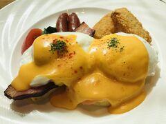ホテルの美味しい朝食をいただき、