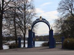 Lusthusportens parkの青い門。