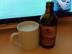みやざき物産館 KONNEで購入したクラフトビールで一休み。495円。