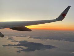 すぐに小豆島上空へ。 エンジェルロードが繋がっているのかどうかわかりませんでした。