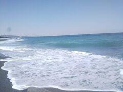 快晴で海の色がとてもキレイ~♪