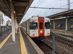 松江城を見終わった後は一畑電車で出雲大社へ。