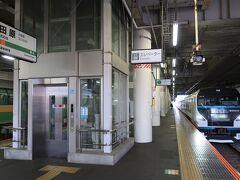 小田原駅で特急踊り子に追い抜かれました(各駅停車の宿命)。