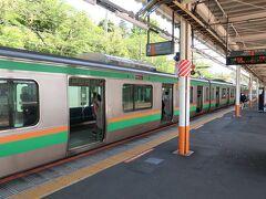 バスが時刻表より早く着いたので、予定より1本早い東海道線で帰路に就きます。