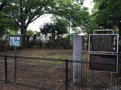 小説の中で桜がキレイなスポットとして紹介されていた谷中霊園。 ここは、幸田露伴の小説にも書かれたという五重塔の跡。