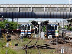 30分ほど乗車してこの列車の終点・水海道駅に到着です。次の列車まで40分ほどありますので駅周辺を散策です。