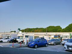 5:39 圏央道、厚木PA 5:00 自宅を出発。 その後、東名高速道路へ。