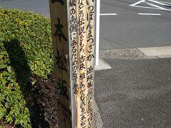 またまた新たな坂道をみつけました。  一本松坂という坂があります。  昔から植え継がれている松の木があるのが由来です。