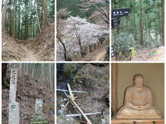 「金峯神社」から「西行庵(平安時代末期に西行が過ごした幽居)」まで行き、戻るのに、約40分 「下千本」より標高500m高くて、ここまで来る人は少なく、歩きにくい箇所も有ります。
