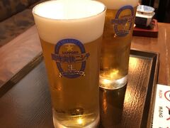 新潟駅で、SAPPORO新潟限定の 風味爽快ニシテの生ビール。