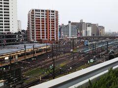 屋上からは海老名駅が見えるので、タイミングが合えば「ロマンスカー」を実際に見ることができます。