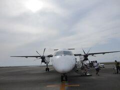 この飛行機にお世話になりました。近くで飛行機を見れるのがいい。
