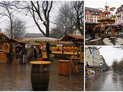 """到着が早くて部屋には入れず、荷物を預けて大聖堂前の広場に出かけることにしました。 駅前からトラムに乗り、""""シラープラッツ(Schillerplatz)""""で下車。 クリスマスの屋台を眺めながら広場を抜け、真っすぐ続くルートヴィヒス通りを進みます。"""