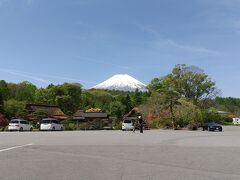 忍野八海のバス停からの富士山が綺麗でした。