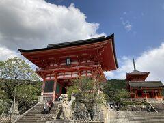 散歩がてら清水寺に来てみたよ。人少ないね。