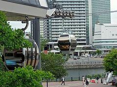 横浜エアキャビン新港地区の駅は、ワーポ2階から直接繋がってます。