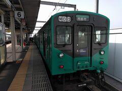 ●JR加古川駅  粟生駅で、北条鉄道からJRに乗り換え、JR加古川駅まで戻って来ました。 乗車していた列車は、折り返し、JR西脇市駅行になりました。 JR山陽本線に乗り換えます。 もう一カ所、桜を見学して帰ります。