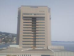 ロープウェイから良く見える後楽園ホテル