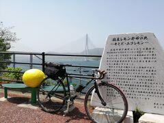 瀬戸内海でも有数の大きさを誇る大三島ですが、しまなみ海道では端をかすめるだけです。 大三島大橋を渡ります。