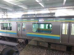 木更津始発の電車には君津で乗り換えます