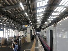 新潟駅到着。人出はまばらだ。