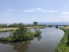 福島潟放水路。