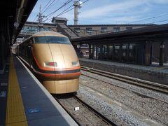 蒸気機関車を見たので急遽下今市駅で特急スペーシアを降りました。