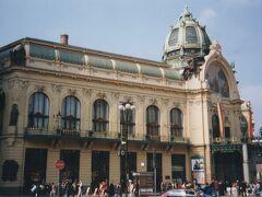 プラハ市民会館 Municipal House。  ここでは、一年中オペラやコンサートが開かれる会場となっています。