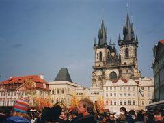 プラハ城の外観。