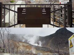 <大涌谷自然研究路> 歩くのを楽しみにしていたんだけど、モクモクのために立ち入り禁止。