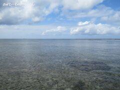 品覇海岸からは、リーフが見えません。たまたま、リーフの切れ目を撮影したのかもしれません。