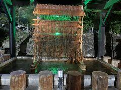 お寿司を食べた後は、ひょうたん温泉で体を温めて、別府サービスエリアで車中泊です。