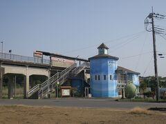 14:55 本日8km(トータル1001km)  涸沼駅前を通過。