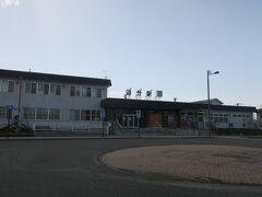 14:16 本日80km(トータル957km)  追分駅に到着しました。 大きい駅ですが、人はあまりいません。