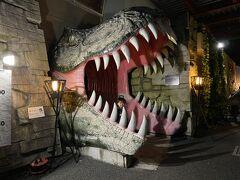 ダイナソー到着! 前回貰ったポイントで恐竜に乗れるからと、渋る夫を説得・・さぁこの口に飲み込まれます・・