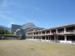 大野木場砂防未来館に隣接する  「旧大野木場小学校被災校舎」